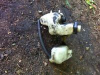 Honda nsr coolant and oil reservoir bottles