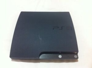 PS3 console with 6 games, controller, cables