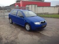 24/7 Trade sales NI Trade prices for the public 2002 Skoda Fabia 1.4 Classic Blue full mot low miles