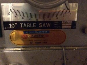 """10"""" bench saw busy Bee model: TSC-10 and accessories Gatineau Ottawa / Gatineau Area image 3"""