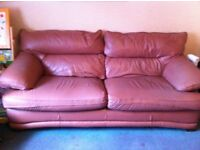 Leather couch 3 seater 2 chairs