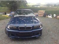Blue BMW 325 E46