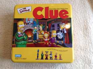 The Simpsons Clue Game in Collectible Tin