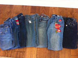 Girls size 8 jeans 7 pairs Gymboree / Gap
