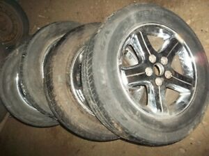 4 chrome rims with tires 16/225/60 tires good year eagle