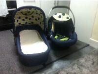 Carrycot/ car baby seat ( set)