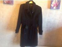 Figure ladies coat wool black size: 38/10 used £7