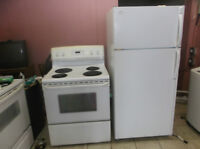 fridaire fridge 60 in h 28w apt size stove  can delivery