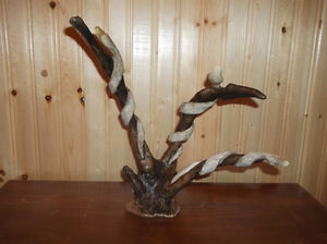 hand crafted antler carving