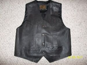 Leather mans vest