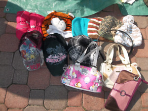 Girls hats,caps,mitts and purses
