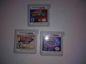 Trois Jeux 3DS (Pokemon Moon, Hyrule Warriors, Naruto Shippuden)