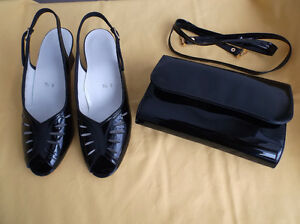 Souliers/sac à main cuir verni/Patent leather shoes and handbag
