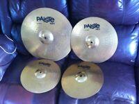 "Paiste cymbals set 20"" ride 16"" crash 14"" Hi-hats top & bottom"