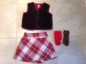 Gymboree Girls holiday  skirt and vest