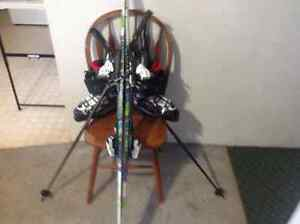 Skis , boots , bindings , poles