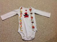 Custom Construction BDay Onsie - 24 Months - Worn Once