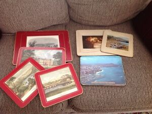Place mats with pictures of England