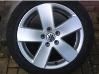 "17"" VW PASSAT SPORT B6 MONTE CARLO (5 SPOKE) ALLOY WHEELS PCD 5X112"