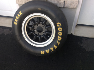 Minilite wheels and Goodyear short track race tires vintage