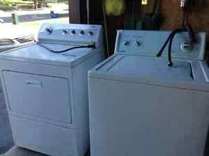 classic kenmore white washer & dryer