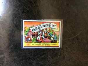 Vintage Old Tavern Lager Beer Label