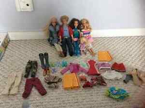 5 Barbies for sale!