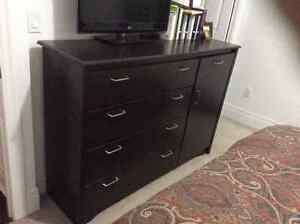 Bed, Mattress, Nightstand and Dresser w/ limited use