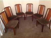 G-Plan dining chairs X 6