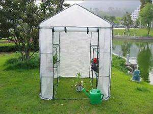 Backyard Greenhouse with Shelving 56.2*56.2*76.7in #021191