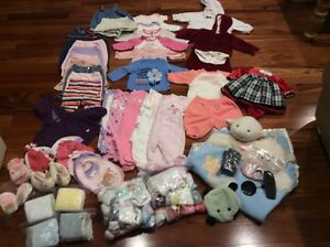 Winter baby girls clothes size 0-6 months