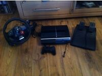 PS3 80GB & Logitech GT Steering wheel & pedals & 25 games