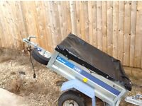 Easy line 105 car trailer with cover and spare wheel