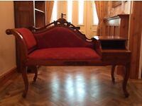 Antique style telephone chaise lounge