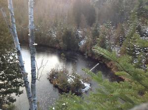 terre a bois avec deux lac et un (chalet 350pied carré)