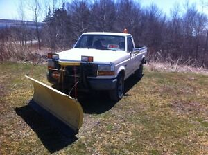 1996 ford F150 with fisher plow