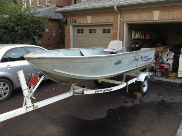 Used 2003 Lowe 14ft Lowe Sea Nymph with 9.9 Mercery 2 Stroke