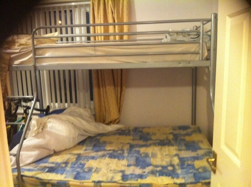 Bunk Beds Queen Size Bottom And Large Single Above Only 60 In