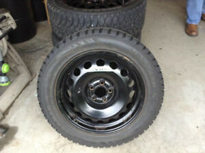 4x Nokian Nordman Winter tires (205/55/16) with Rims
