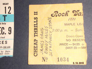 ROCK CONCERT TICKET STUBS Kitchener / Waterloo Kitchener Area image 2