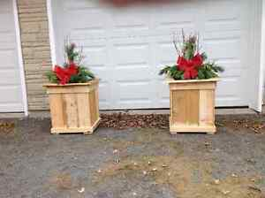 PLANTER BOXES MADE FROM RECLAIMED WOOD