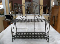 Steel shelf with legs