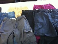 Mixed bundle of mens trousers and shorts