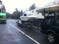 Boat transport piggyback trailer rib cabin cruisers yachts recovery