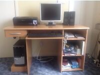 Full computer set up with desk