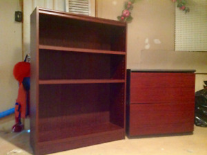 Filing cabinet & matching book case