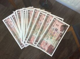 Collection George Best Commemorative Bank Notes (20 Consecutive Number's!!) RARE