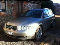 2003 AUDI A4 1.9 TDI SE 130 PD AVANT ESTATE 5 SPEED GOOD RUNNER DRIVES WELL NO MOT SPARES / REPAIR