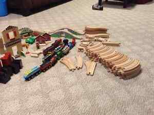 PPU Wooden train sets itch trains and Thomas accessories