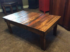 RECLAIMED WOOD COFFEE, HALLWAY AND SIDE TABLES